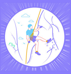 Icon of a climber linear style vector
