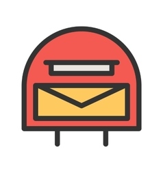 Letterbox vector image