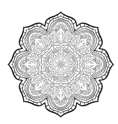 mandala pattern of black and white vector image