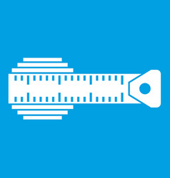 measuring centimeter icon white vector image