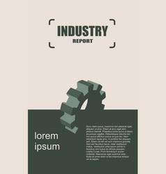 Modern brochure design template industry vector