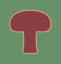 Mushroom simple sign cordovan icon and vector