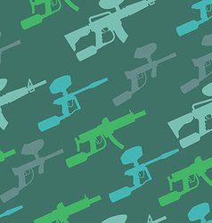 paintball guns pattern vector image vector image