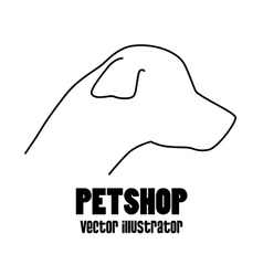 Pet shop concept silhouette dog vector