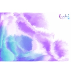 Purple and blue background in watercolor style vector image vector image