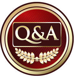 Question and answer icon vector