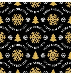 Seamless pattern Merry Christmas and Happy New vector image vector image
