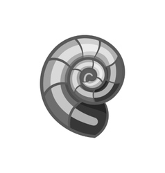 Snail icon black monochrome style vector