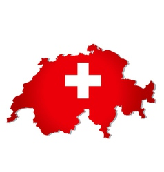 Switzerland flag map vector image