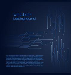 Technological dark blue background vector