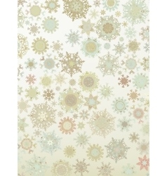 Template Retro Snowflakes background EPS 8 vector image