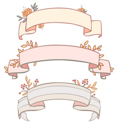 Three tapes frame with vegetation vector