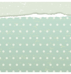 Torn retro background vector image vector image