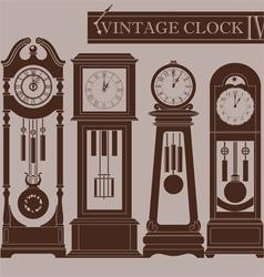 Vintage clock IV vector image vector image