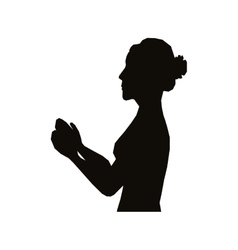 Woman profile silhouette icon image vector