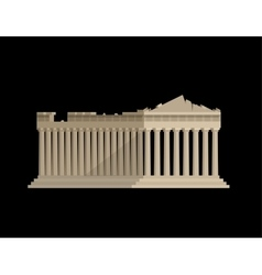 World landmark flat design of parthenon greek vector