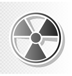 Radiation round sign  new year blackish vector