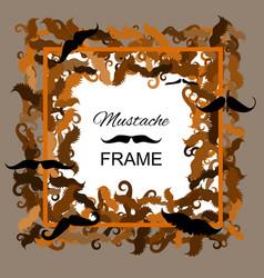 Hipster mustache frame vector