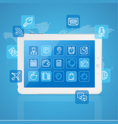Realistic mobile gadget concept app service vector
