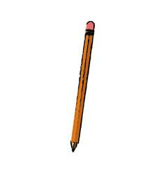 Wooden pencil write utensil supply office vector