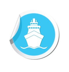 Ship icon round blue2 copy vector