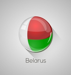 European flags set - belarus vector