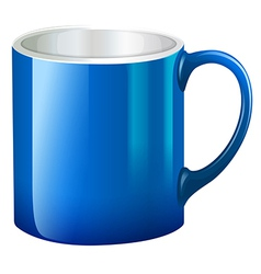 A big blue mug vector