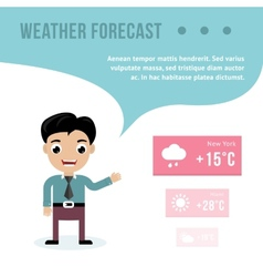 Weatherman giving a weather forecast vector