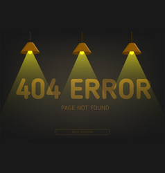 404 error not found page with lighting vector image