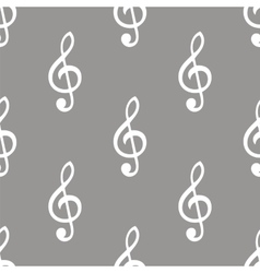 Treble clef seamless pattern vector