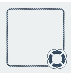 Nautical card template vector