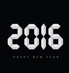 happy new 2016 year black vector image
