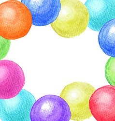 Frame of watercolor balls vector image