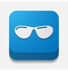 Square button sunglasses vector