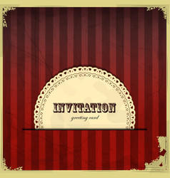 vintage card with place for text - scrapbook style vector image