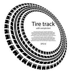 Tire track circles with text vector