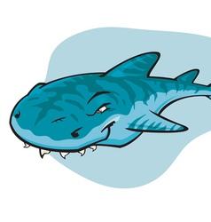 Cartoon Tiger shark vector image
