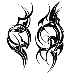 Hand Drawn Tribal Tattoo vector image