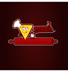 Hunk of pizza vector image