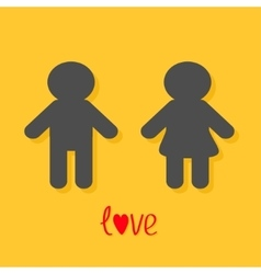 Man and woman icon male female sign gender symbol vector