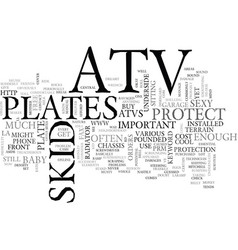 Atv skid plates text word cloud concept vector