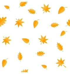 Autumn leaves yellow orange leaf set oak maple vector