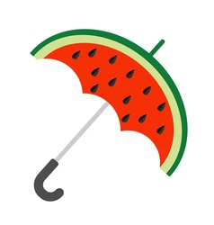 Big watermelon slice cut with seed Umbrella shape vector image