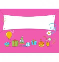 birthday doodle vector image vector image
