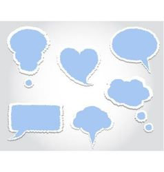 bubbles dialogue with ragged edges vector image