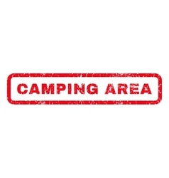 Camping Area Rubber Stamp vector image vector image