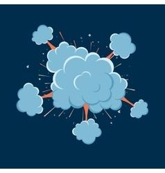 Cartoon bomb explosion with smoke vector image
