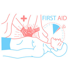 concept of the first medical aid vector image vector image