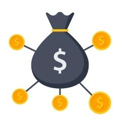 Crowdfunding icon vector