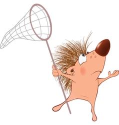 Cute Hedgehog Cartoon Character vector image vector image
